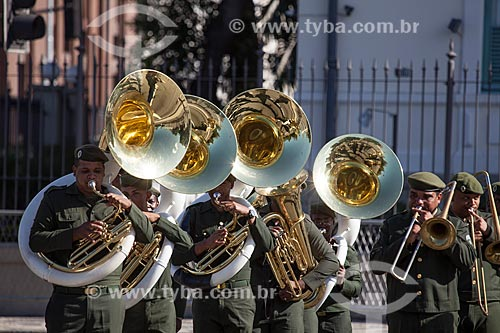 Assunto: Apresentação da banda do exército durante o desfile em comemoração ao Sete de Setembro na Avenida Presidente Vargas / Local: Centro - Rio de Janeiro (RJ) - Brasil / Data: 09/2013