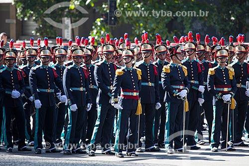 Assunto: Cadetes da Academia Militar das Agulhas Negras (AMAN) - durante o desfile em comemoração ao Sete de Setembro na Avenida Presidente Vargas / Local: Centro - Rio de Janeiro (RJ) - Brasil / Data: 09/2013
