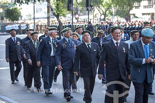 Assunto: Ex-combatentes das Forças de Paz do Exército Brasileiro durante o desfile em comemoração ao Sete de Setembro na Avenida Presidente Vargas / Local: Centro - Rio de Janeiro (RJ) - Brasil / Data: 09/2013