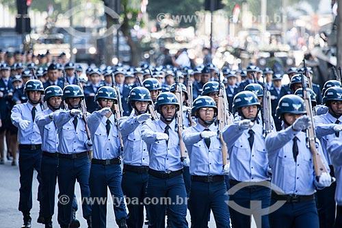 Assunto: Soldados do aeronáutica durante o desfile em comemoração ao Sete de Setembro na Avenida Presidente Vargas / Local: Centro - Rio de Janeiro (RJ) - Brasil / Data: 09/2013
