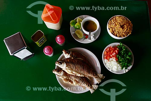 Assunto: Peixe Jaraqui Frito - Tradicional Restaurante Galo Carijó - Gastronomia típica do Amazonas / Local: Manaus - Amazonas (AM) - Brasil / Data: 10/2013