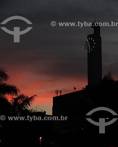 Assunto: Silhueta do antigo prédio da Mesbla ao entardecer / Local: Centro - Rio de Janeiro (RJ) - Brasil / Data: 09/2012