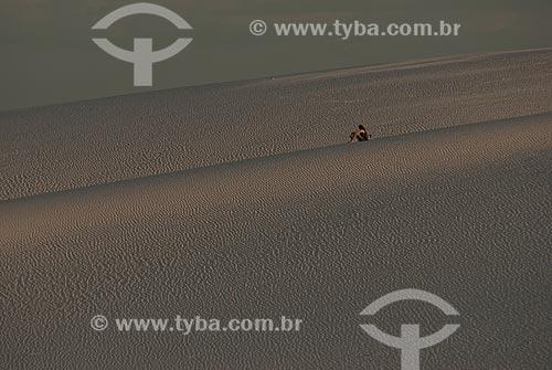 Assunto: Dunas na Lagoa Azul no Parque Nacional dos Lençóis Maranhenses / Local: Barreirinhas - Maranhão (MA) - Brasil / Data: 07/2010
