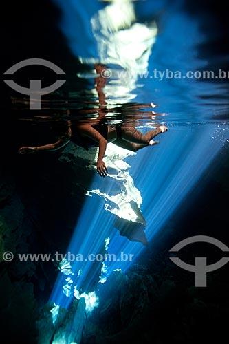Assunto: Vista do Poço Azul / Local: Nova Redenção - Bahia (BA) - Brasil / Data: 09/2012