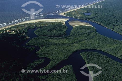 Assunto: Barra do Una na Estação Ecológica de Juréia-Itatins / Local: Peruíbe - São Paulo (SP) - Brasil / Data: 04/2010