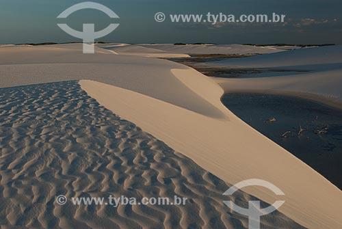 Assunto: Dunas da Lagoa Azul no Parque Nacional dos Lençóis Maranhenses / Local: Barreirinhas - Maranhão (MA) - Brasil / Data: 07/2010