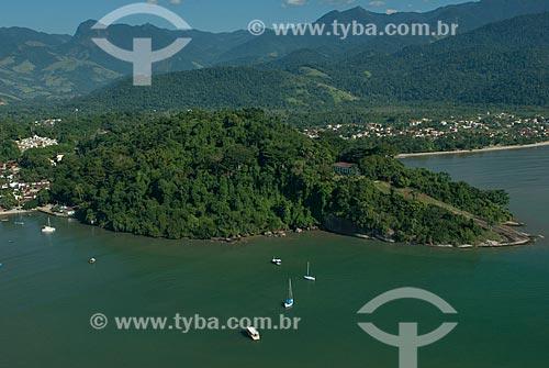 Assunto: Foto aérea de Paraty com a Serra da Bocaina ao fundo / Local: Paraty - Rio de Janeiro (RJ) - Brasil / Data: 04/2011