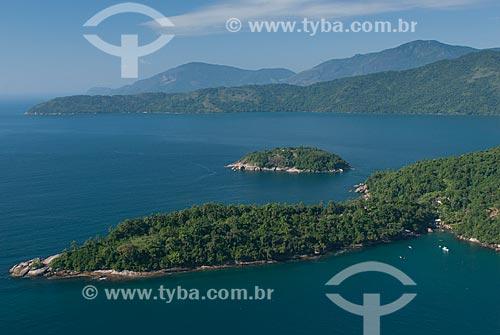 Assunto: Foto aérea da Ilha do Algodão e da Ilha Sernambi (menor) na Área de Proteção Ambiental de Cairuçu / Local: Paraty-Mirim - Paraty - Rio de Janeiro (RJ) - Brasil / Data: 04/2011