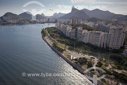 Assunto: Foto aérea do Aterro do Flamengo próximo ao Monumento à Estácio de Sá / Local: Flamengo - Rio de Janeiro (RJ) - Brasil / Data: 04/2011