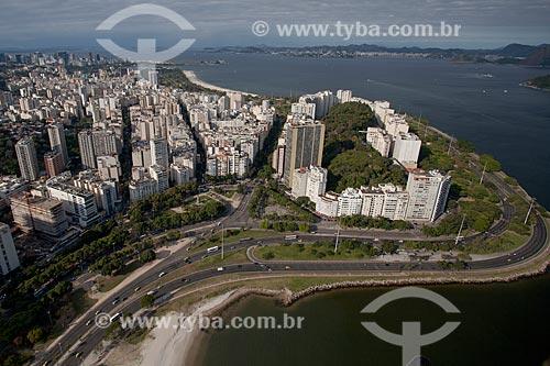 Assunto: Foto aérea do Aterro do Flamengo próximo ao Morro da Viúva / Local: Flamengo - Rio de Janeiro (RJ) - Brasil / Data: 04/2011
