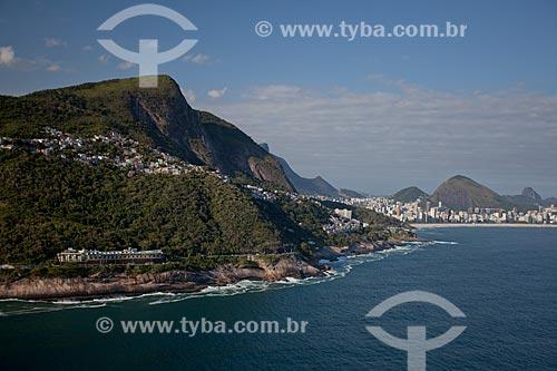 Assunto: Foto aérea da Avenida Niemeyer (1916) próximo ao Motel Vips / Local: Vidigal - Rio de Janeiro (RJ) - Brasil / Data: 04/2011