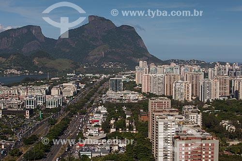 Assunto: Foto aérea da Avenida das Américas próximo ao Barra Shopping / Local: Barra da Tijuca - Rio de Janeiro (RJ) - Brasil / Data: 03/2012