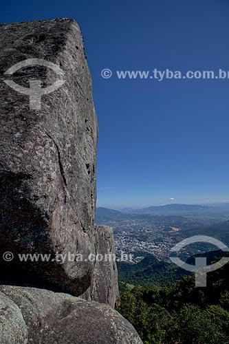 Assunto: Vista da Barra da Tijuca a partir do morro do Bico do Papagaio no Parque Nacional da Tijuca / Local: Tijuca - Rio de Janeiro (RJ) - Brasil / Data: 05/2013
