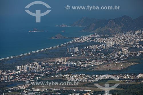 Assunto: Vista geral da Barra da Tijuca com o Recreio dos Bandeirantes ao fundo / Local: Barra da Tijuca - Rio de Janeiro (RJ) - Brasil / Data: 05/2013