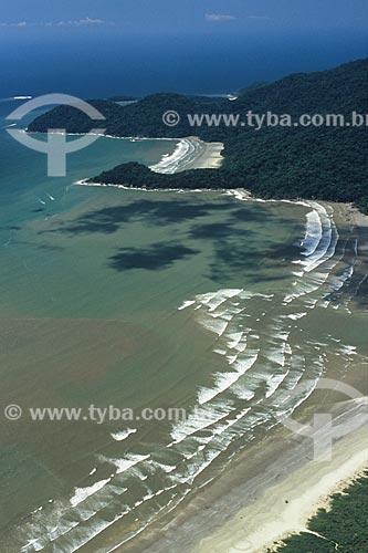 Assunto: Praia do Guarauzinho, Praia da Baleia e Praia do Arpoador ao fundo na Estação Ecológica Jureia-Itatins / Local: Peruíbe - São Paulo (SP) - Brasil / Data: 04/2010