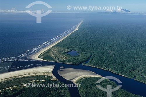 Assunto: Barra do Una na Estação Ecológica Jureia-Itatins / Local: Peruíbe - São Paulo (SP) - Brasil / Data: 04/2010