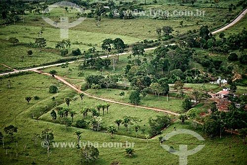 Assunto: Foto aérea dos geoglifos no Sítio do Jacó Sá próximo à Rodovia BR-317 / Local: Boca do Acre - Amazonas (AM) - Brasil / Data: 05/2013