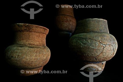 Assunto: Vaso de careta encontrado próximo à Placido de Castro - Reprodução acervo Palácio Rio Branco / Local: Rio Branco - Acre (AC) - Brasil / Data: 05/2013