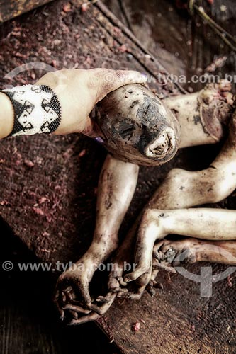 Assunto: Carne de macaco - caça do índio Yawanawá / Local: Acre (AC) - Brasil / Data: 05/2013