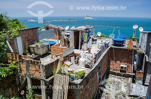 Assunto: Casas na Favela do Vidigal / Local: Vidigal - Rio de Janeiro (RJ) - Brasil / Data: 11/2013