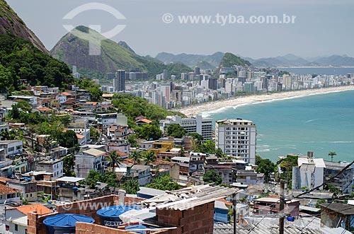Assunto: Favela do Vidigal com o Leblon e Ipanema ao fundo / Local: Vidigal - Rio de Janeiro (RJ) - Brasil / Data: 11/2013