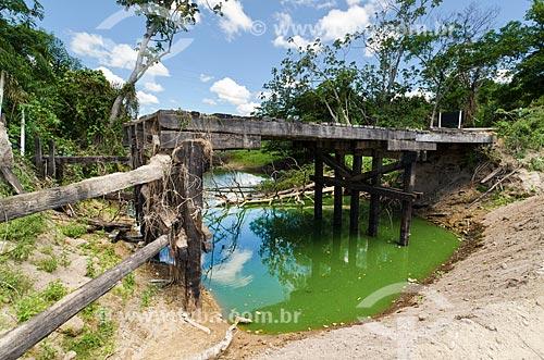 Assunto: Ponte parcialmente destruída pela cheia de 2011 / Local: Mato Grosso do Sul (MS) - Brasil / Data: 11/2011