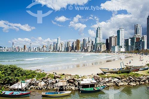 Assunto: Prédios da Cidade de Balneário Camboriú vistos do Pontal Norte da Praia Central / Local: Balneário Camboriú - Santa Catarina (SC) - Brasil / Data: 10/2013