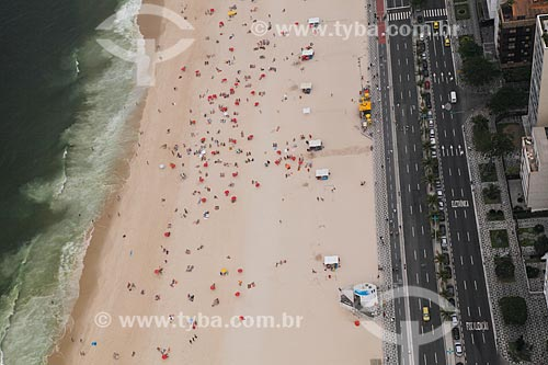 Assunto: Vista aérea da Praia do Leblon / Local: Leblon - Rio de Janeiro (RJ) - Brasil / Data: 11/2011