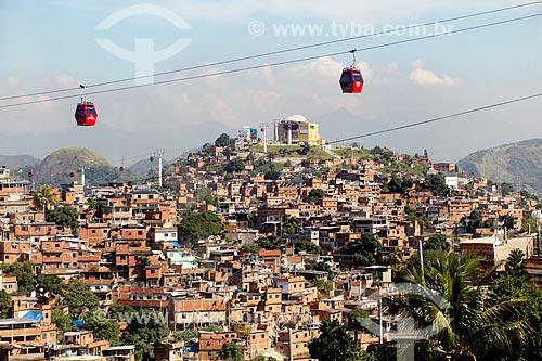 Assunto: Gôndolas do Teleférico do Alemão  -  operado pela SuperVia / Local: Rio de Janeiro (RJ) - Brasil / Data: 05/2012