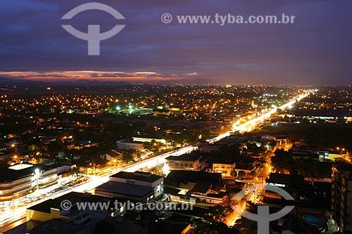 Foto aérea da Avenida vinte e dois de Maio  - Itaboraí - Rio de Janeiro - Brasil