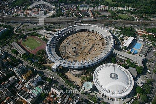 Reforma do Estádio Jornalista Mário Filho - também conhecido como Maracanã - para a Copa do Mundo de 2014  - Rio de Janeiro - Rio de Janeiro - Brasil