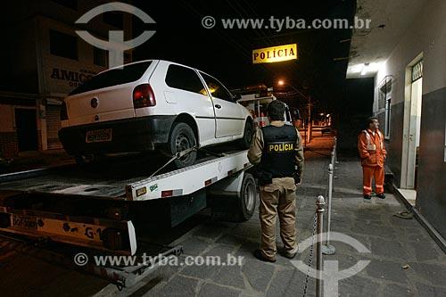 Carro apreendido por tráfico de drogas no posto da Polícia Rodoviária Federal  - Paracambi - Rio de Janeiro - Brasil