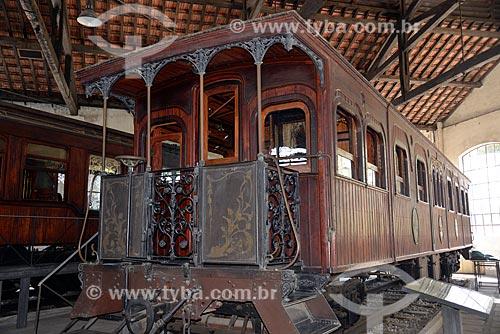 Assunto: Carro Imperial (1886) - também conhecido como Carro do Imperador, importado da Bélgica - Museu do Trem (1984) / Local: Engenho de Dentro - Rio de Janeiro (RJ) - Brasil / Data: 09/2013
