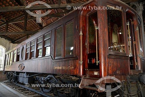 Assunto: Carro do Rei Alberto (1886) - vagão adaptado exclusivamente para o Rei da Bélgica, em sua visita ao Brasil em 1921 - Museu do Trem (1984) / Local: Engenho de Dentro - Rio de Janeiro (RJ) - Brasil / Data: 09/2013