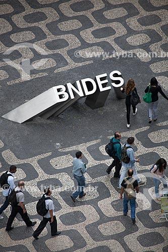 Assunto: Vista aérea do logotipo - Banco Nacional do Desenvolvimento Econômico e Social  / Local: Centro - Rio de Janeiro (RJ) - Brasil / Data: 10/2013