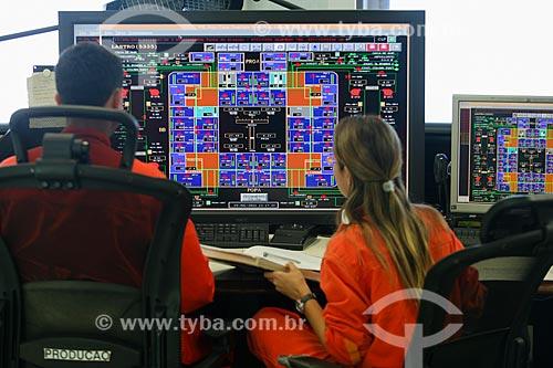 Painel de controle da Plataforma P-51 - módulo 2 do Campo de Marlim Sul na Bacia de Campos  - Campos dos Goytacazes - Rio de Janeiro - Brasil