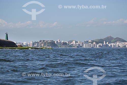 Assunto: Praia de Icaraí - com o Forte Tamandaré da Laje (1555) à esquerda - vista a partir da Baía de Guanabara / Local: Niterói - Rio de Janeiro (RJ) - Brasil / Data: 11/2013