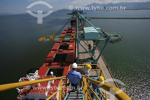 Porto da ThyssenKrupp CSA - Companhia Siderúrgica do Atlântico na Baía de Sepetiba  - Rio de Janeiro - Rio de Janeiro - Brasil