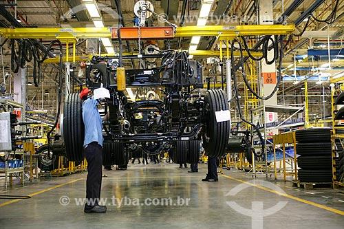 Linha de montagem de caminhões Volkswagen  - Resende - Rio de Janeiro - Brasil