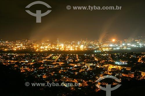 Vista noturna da Companhia Siderúrgica Nacional - CSN  - Volta Redonda - Rio de Janeiro - Brasil