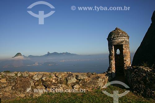 Forte São Luiz com cidade do Rio de Janeiro ao fundo  - Niterói - Rio de Janeiro - Brasil