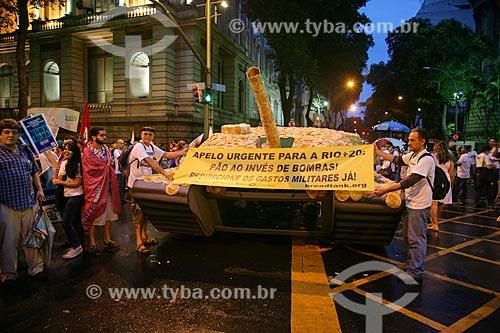 Passeata da Cúpula dos Povos na Avenida Rio Branco  - Rio de Janeiro - Rio de Janeiro - Brasil