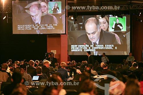 Líderes mundiais na Conferência das Nações Unidas sobre  Desenvolvimento Sustentável mais conhecido como Rio + 20  - Rio de Janeiro - Rio de Janeiro - Brasil