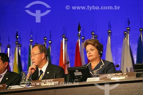 Ban Ki-moon e Presidente Dilma Rousseff na Conferência das Nações Unidas sobre Desenvolvimento Sustentável mais conhecido como Rio + 20  - Rio de Janeiro - Rio de Janeiro - Brasil