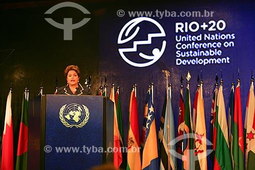 Presidente Dima Rousseff na Conferência das Nações Unidas sobre Desenvolvimento Sustentável mais conhecido como Rio + 20  - Rio de Janeiro - Rio de Janeiro - Brasil