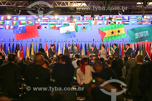 Presidente Dilma Rousseff com outros líderes mundiais na Conferência das Nações Unidas sobre Desenvolvimento Sustentável (Rio + 20)  - Rio de Janeiro - Rio de Janeiro - Brasil