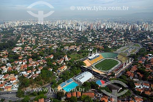 Assunto: Vista aérea do Estádio Municipal Paulo Machado de Carvalho (1940) - também conhecido como Estádio do Pacaembú / Local: São Paulo (SP) - Brasil / Data: 10/2013