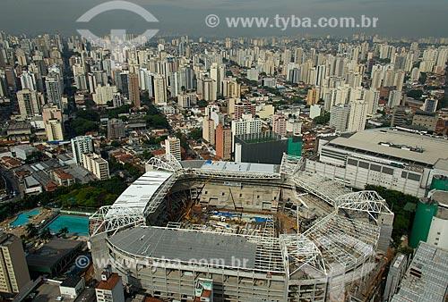 Assunto: Vista aérea do Allianz Parque - também conhecido como Arena Palmeiras / Local: São Paulo (SP) - Brasil / Data: 10/2013