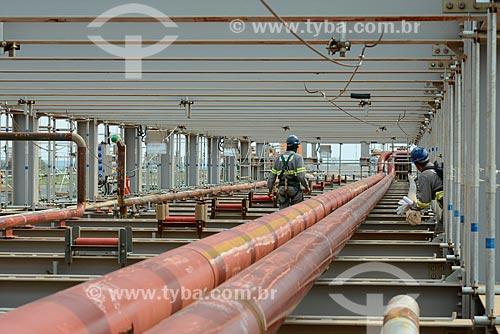 Assunto: Estrutura de tubulação na obra de construção da Unidade de Fertilizantes Nitrogenados da PETROBRAS / Local: Três Lagoas - Mato Grosso do Sul (MS) - Brasil / Data: 09/2013