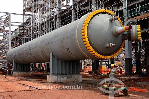 Assunto: Reator de amônia na obra de construção da Unidade de Fertilizantes Nitrogenados da PETROBRAS / Local: Três Lagoas - Mato Grosso do Sul (MS) - Brasil / Data: 09/2013